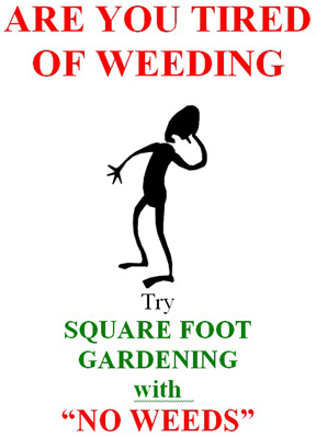 Tired Of Weeding?  SFG Can Help!