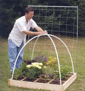 PVC Garden Cage