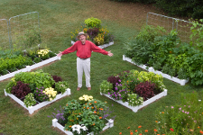 Perfect Square Foot Gardening Aisles