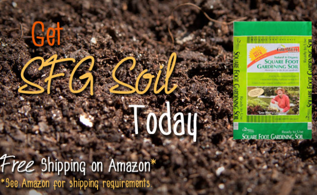 Get Square Foot Gardening Soil on Amazon with Free Shipping*